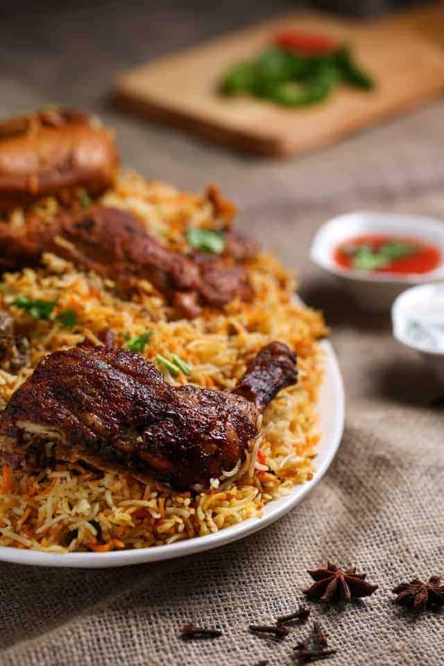 biriyani chicken cooked 1624487