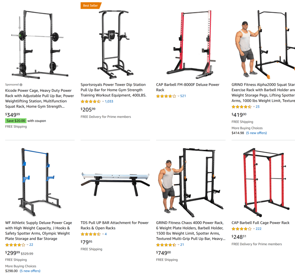 Screenshot 2020 08 16 Amazon com 14 gauge power rack