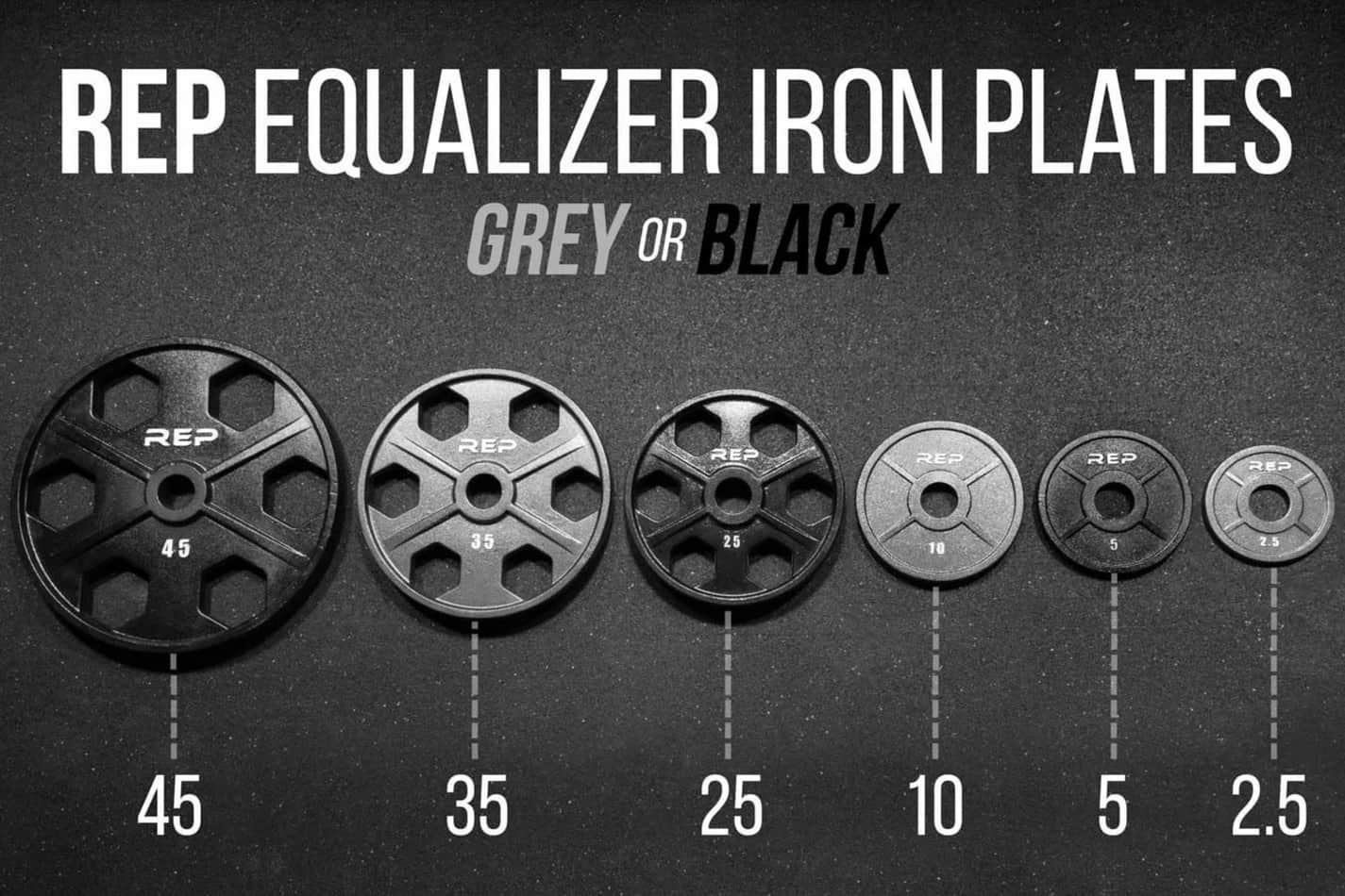 REP Equalizer Iron Olympic Plates