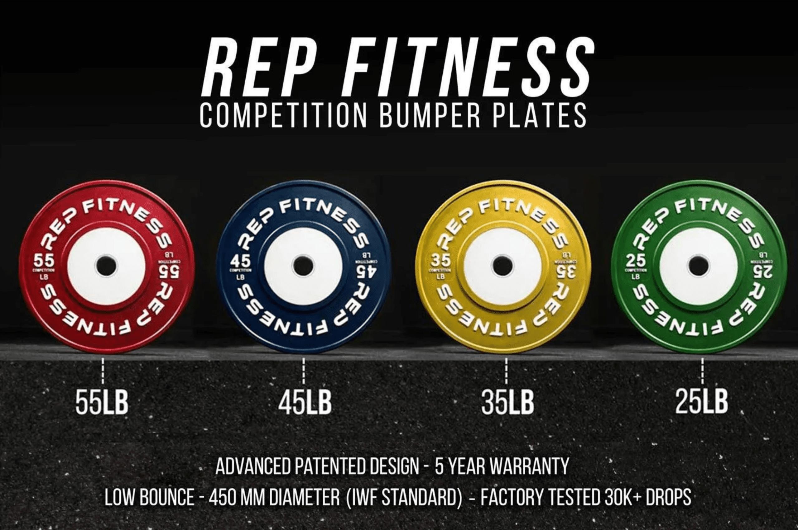 REP Competition Bumper Plates (LB)