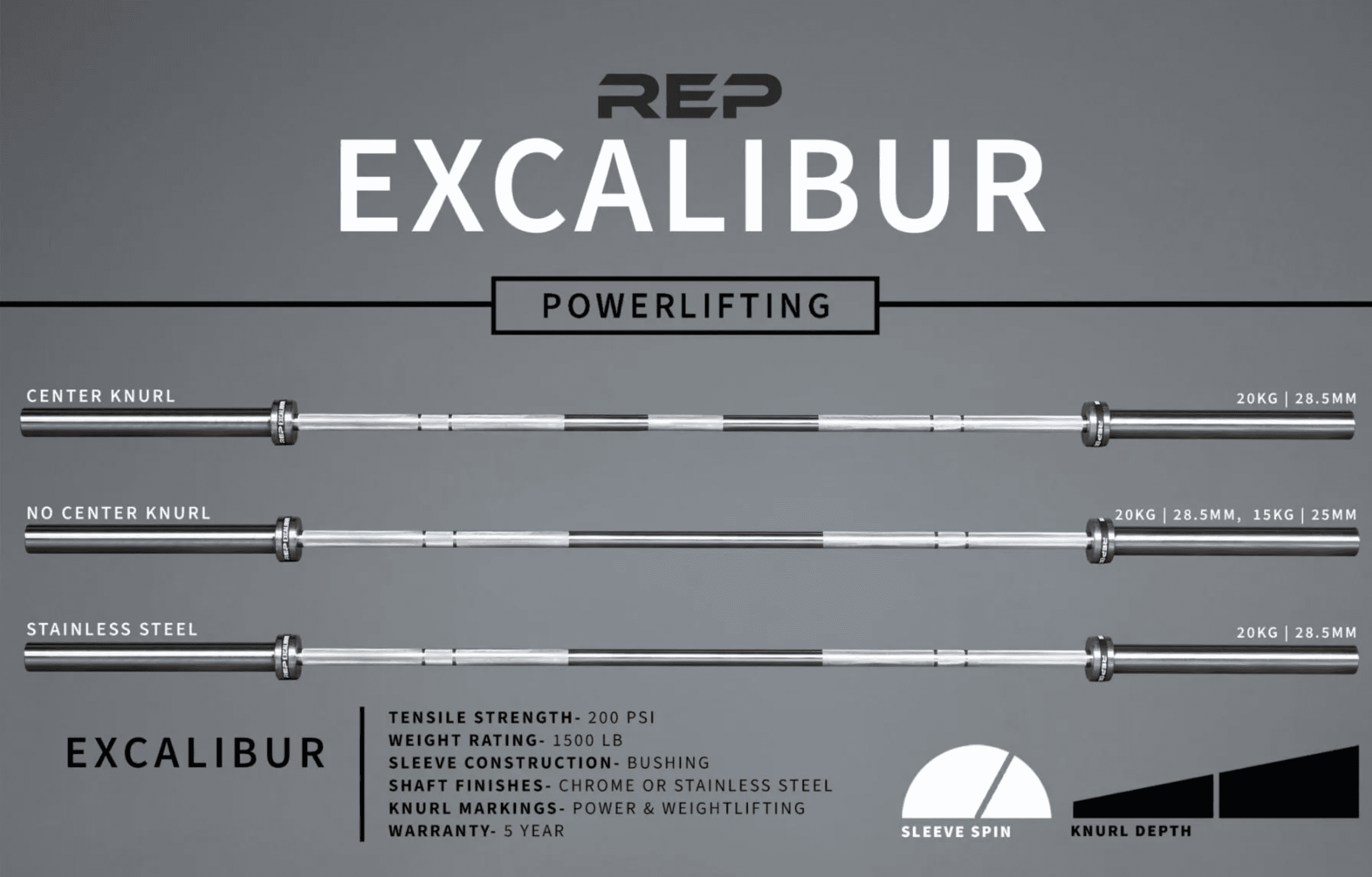 REP Excalibur Bar