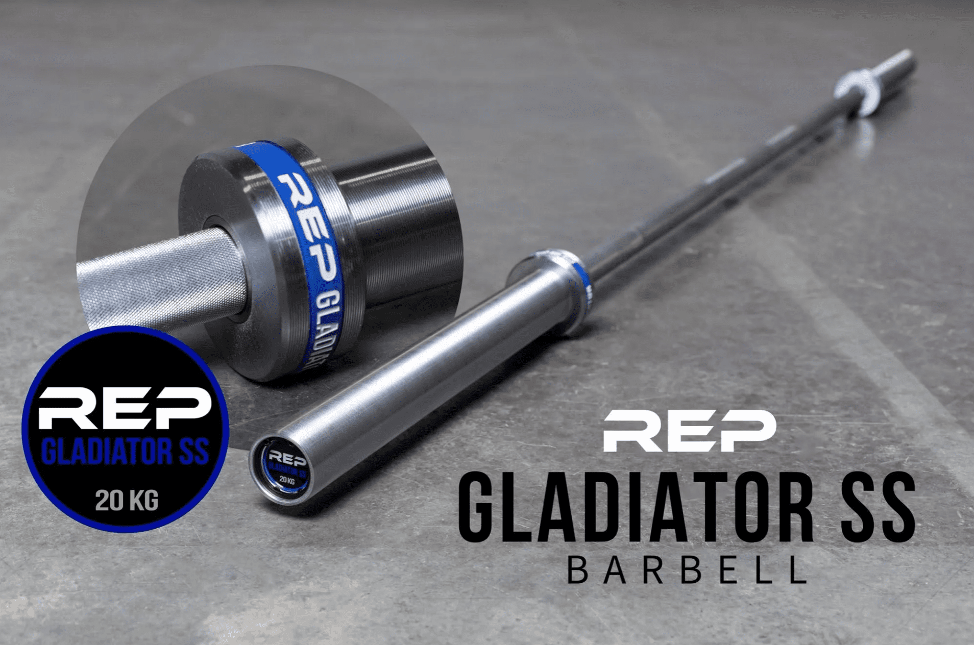 REP Stainless Steel Gladiator WL Barbell