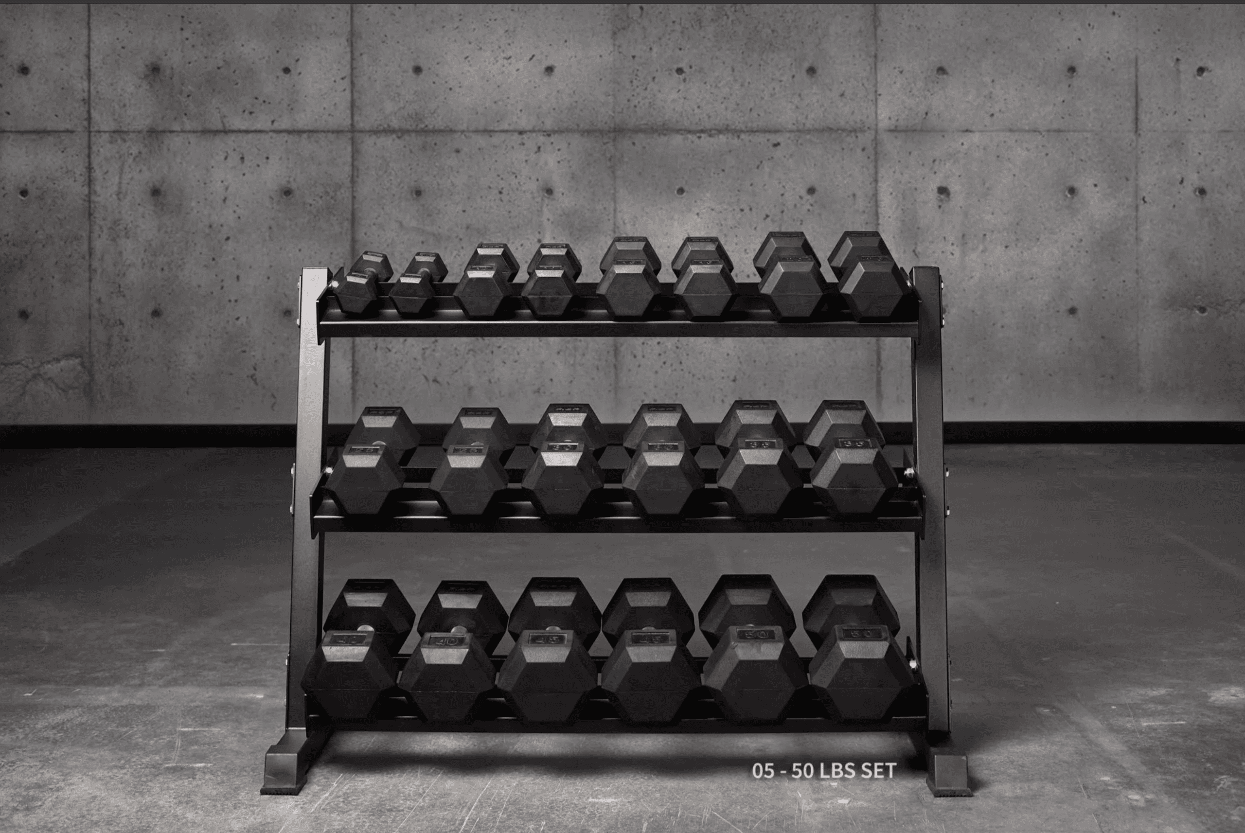 REP Rubber Hex Dumbbell Sets