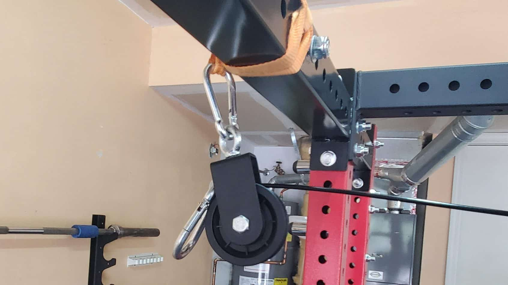 How To Make Your Own DIY Home Gym Pulley System second pulley and carabiner set