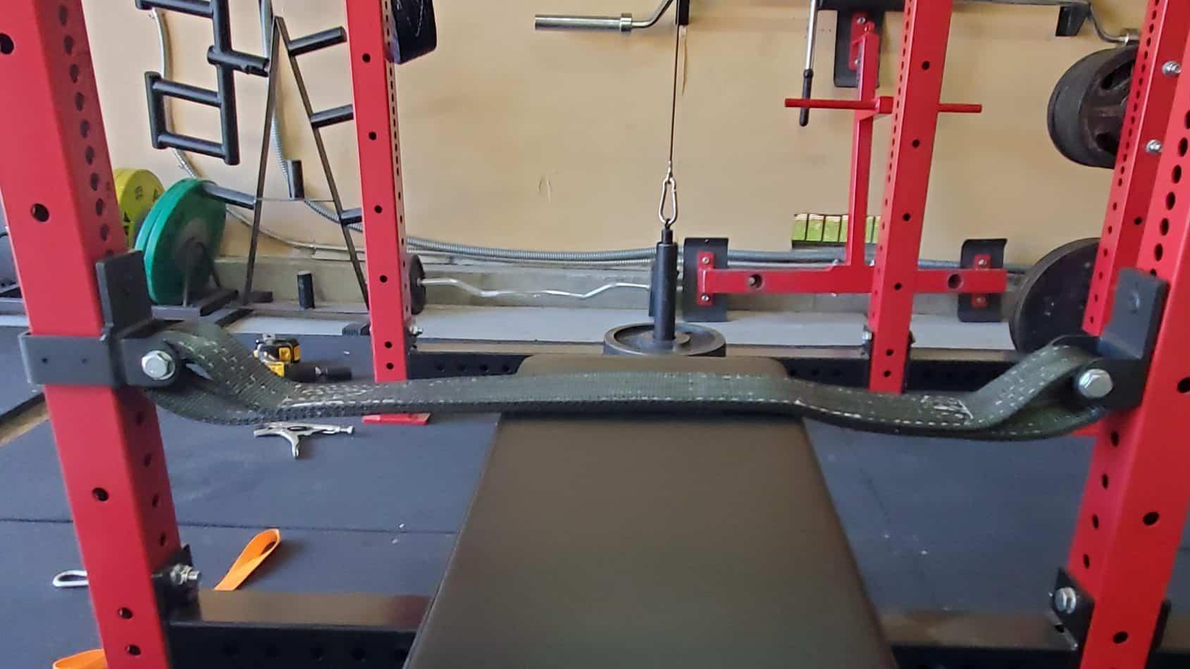 diy pulldown power rack safeties to brace against
