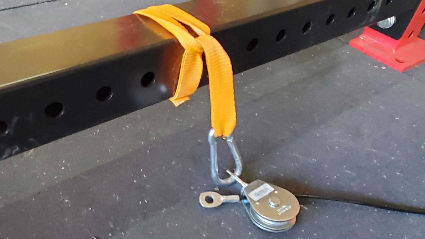diy low pulley for home gym